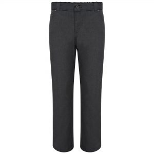 Boys Grey Jean Style Straight Leg School Trousers