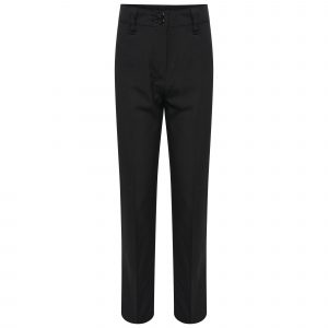 Girls Black Straight Leg Regular Fit School Trousers