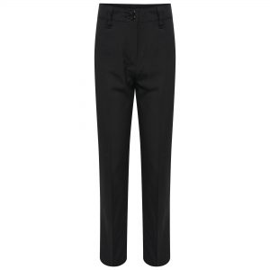 Girls Black Straight Leg Plus Fit School Trousers