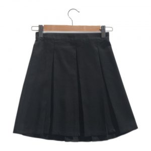 Girls Grey Box Pleated School Skirt