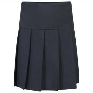 Girls Pleated Navy School Skirt
