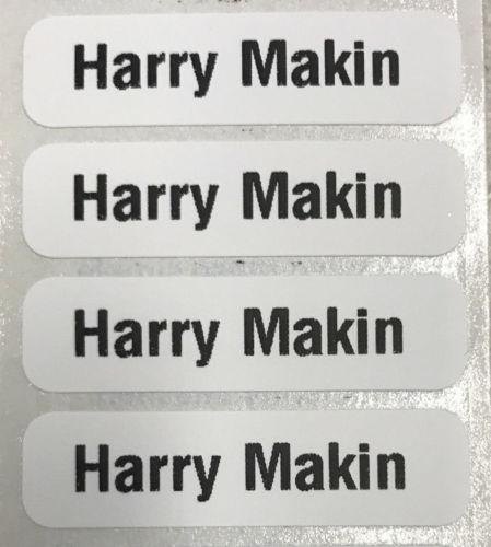 50 PRE-CUT PRINTED SCHOOL NAME LABELS FOR CLOTHES