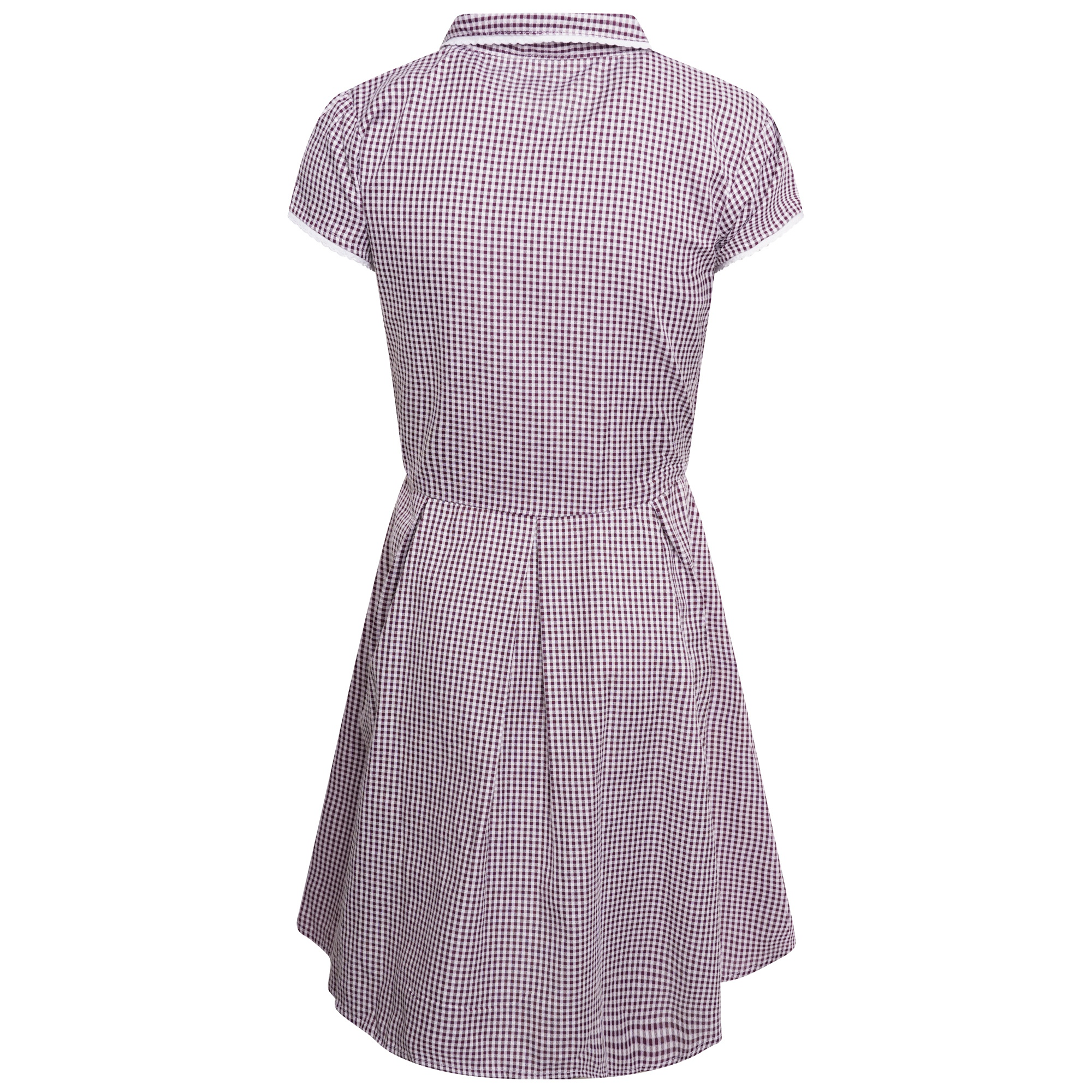 Girls School Gingham Dress Cotton Blend School Pleated Summer Dress Check