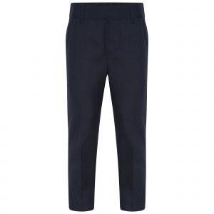 Boys Skinny Black School Trousers Adjustable Waist