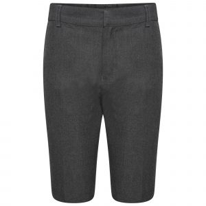 Boys Grey School Shorts Adjustable Waist