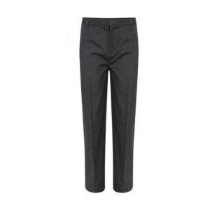 Boys Skinny Grey School Trousers Regular Long Plus Fit