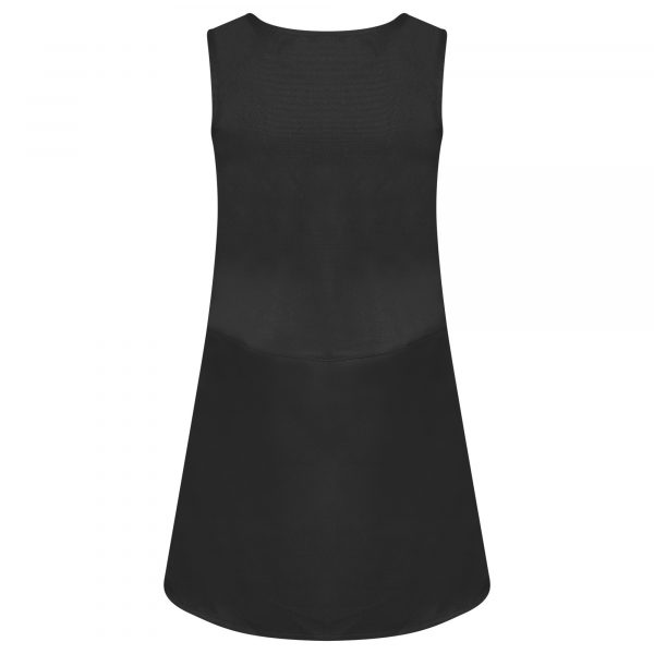 Girls Charcoal Grey School Pinafore Dress Pleated with Heart Zip and Teflon Coating
