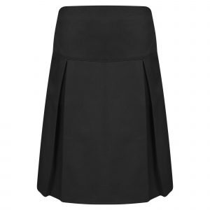 Girls Black Classic School Skirt with Permanent Pleats
