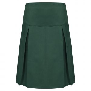Girls Green Classic School Skirt with Permanent Pleats