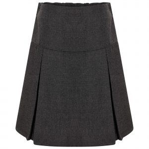 Girls Grey Classic School Skirt with Permanent Pleats