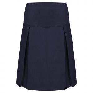Girls Navy Classic School Skirt with Permanent Pleats