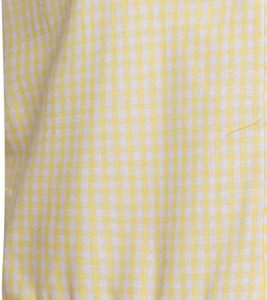 Girls School Yellow Gingham Dress Cotton Blend Pleated Summer Dress Check